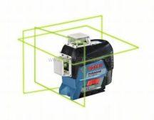 BOSCH GLL 3-80 CG vonallézer zöld lézerrel + BM 1 + L-Boxx + EXTRA BOSCH LR 7 vevővel (0601063T00)