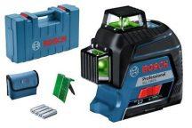 Bosch GLL 3-80 G vonallézer kofferben - zöld lézerrel (0601063Y00)