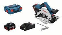 Bosch GKS 18V-57 G Akkus körfűrész 2 x GBA 18V 4.0Ah akku + L-BOXX 238 (06016A2106)