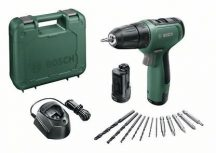 Bosch EasyDrill 1200 akkus csavarozó 2 akkuval, kofferben (06039D3002)