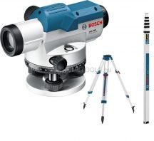 BOSCH GOL 26 D optikai szintező készülék + BT 160 állvány + GR 500 mérőléc (061599400E)