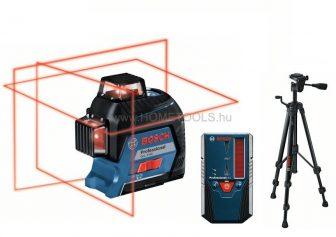 Bosch GLL 3-80 keresztvonalas vonallézer kölcsönzés BT 150 állvánnyal és LR6 lézervevővel