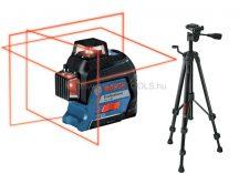 Bosch GLL 3-80 vonallézer szállítókofferben + BT 150 állvány (06159940KD)