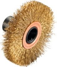 BOSCH 10 mm-es kefe, sárgaréz bevonatú PRR 250 csiszolótekercshez
