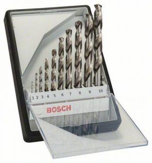 BOSCH 10 részes Robust Line HSS-G fémfúró készlet, 135° (2607010535)
