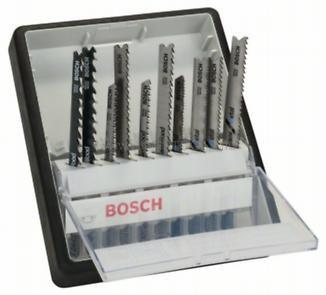 Bosch 10 részes Wood and Metal Robust Line szúrófűrészlapkészlet, T-szár (2607010542)