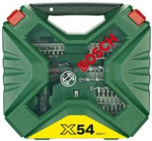 """BOSCH X-line 54 részes tartozékkészlet + """"Pocket"""" racsnis csavarozóval (2607010610)"""