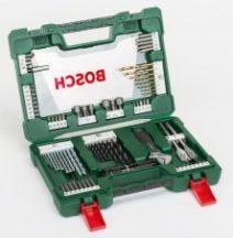 BOSCH 83 részes V-Line TiN fúró- és bitkészlet LED-es zseblámpával és állítható villáskulccsal (2607017193)