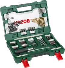 BOSCH 91 részes V-Line TiN fúró- és bitkészlet racsnis csavarhúzóval és mágnesrúddal (2607017195)