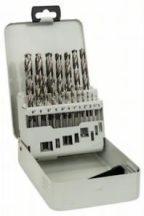 Bosch 19 részes, fémkazettás fémfúrókészlet, HSS-G, DIN 338, 135°