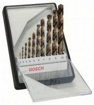 Bosch 10 részes Robust Line HSS-Co fémfúró készlet