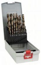 Bosch 25 részes ProBox HSS-Co (kobalttal ötvözött) fémfúrókészlet, DIN 338