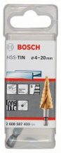 BOSCH Lépcsős fúró, HSS-TiN 4-20mm