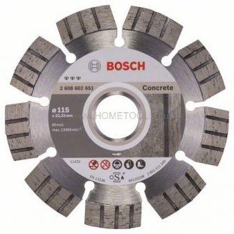 BOSCH Best for Concrete gyémánt darabolótárcsák (2608602651)