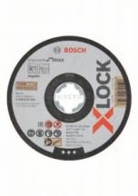 Bosch X-LOCK Standard for Inox 125x1x22,23 mm egyenes vágótárcsa
