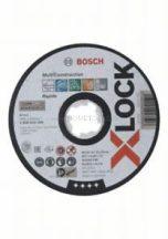 Bosch Multi Material X-LOCK 125x1x22,23 egyenes vágótárcsa