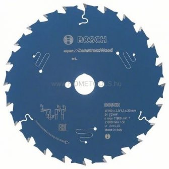 BOSCH Expert for Construct Wood körfűrészlap kézi körfűrészekhez (2608644136)