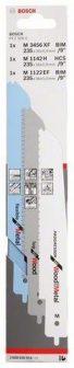 BOSCH PFZ 500 E multifűrészhez 3 részes szúrófűrészlap készlet (2608656934)