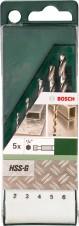 BOSCH 5 részes HSS-G fémfúrókészlet hatszögletű szárral (2609255127)