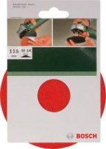 BOSCH Gumi csiszolótányér sarokcsiszolóhoz, tépőzáras rendszer, 115 mm (2609256271)