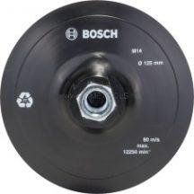 BOSCH Gumi csiszolótányér sarokcsiszolóhoz, tépőzáras rendszer, 125 mm