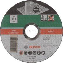 BOSCH Darabolótárcsa, egyenes, Inox 115 mm (2609256320)