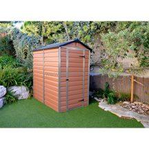 Palram Skylight 4x6 barna polikarbonát kerti tároló - kerti ház