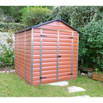 Palram Skylight 6x8 barna polikarbonát kerti tároló - kerti ház