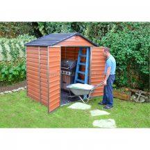 Palram Skylight 6x5 barna polikarbonát kerti tároló - kerti ház