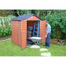 Palram Skylight 6x5 barna polikarbonát kerti tároló - kerti ház - RAKTÁRON