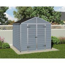 Palram Skylight 8x8 szürke polikarbonát kerti tároló - kerti ház - akár összeszereléssel is rendelheti - választható ajándékkal