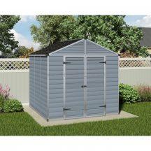 Palram Skylight 8x8 szürke polikarbonát kerti tároló - kerti ház - akár összeszereléssel is rendelheti