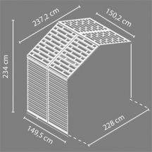 Palram Skylight 8x4 szürke polikarbonát kerti tároló - toldó elem