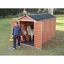 Palram Skylight 6x10 barna polikarbonát kerti tároló - kerti ház - akár összeszereléssel is rendelheti