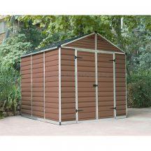 Palram Skylight 8x8 barna polikarbonát kerti tároló - kerti ház - akár összeszereléssel is rendelheti