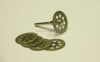 Jóminőségű 6 részes 22 mm-es gyémánt vágókorong magasfordulatú gépekhez