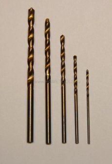 Titánium fém fúrószárkészlet 5 db-os
