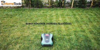 Robotfűnyíró telepítés