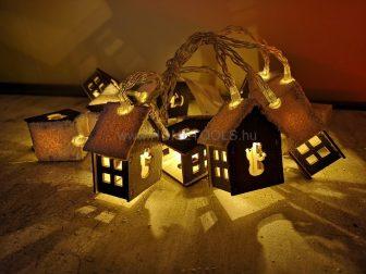 RETLUX RXL 167 Világító házikó hideg fehér műhavas tetejű - Karácsonyi LED világítás