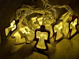 RETLUX RXL 169 LED Világító fehér festett fa angyalka - Karácsonyi LED világítás